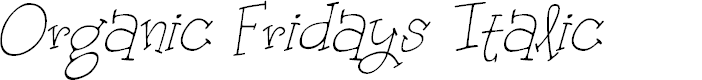 Preview image for Organic Fridays Italic