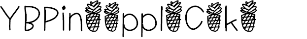 Preview image for YBPineappleCake Font