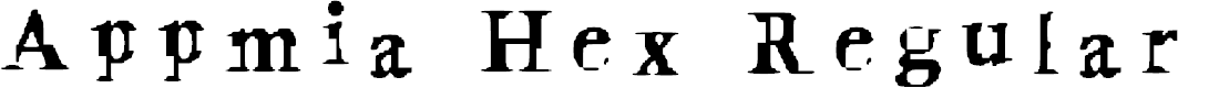 Preview image for Appmia Hex Regular Font