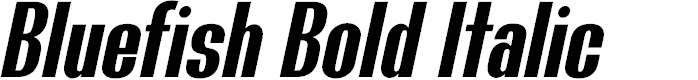 Preview image for Bluefish Demo Bold Italic