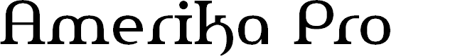 Preview image for AmerikaPro Font
