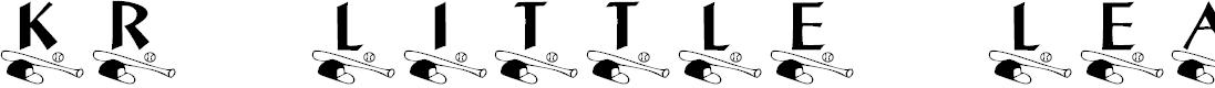Preview image for KR Little League Font
