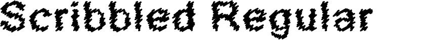 Preview image for Scribbled Regular Font