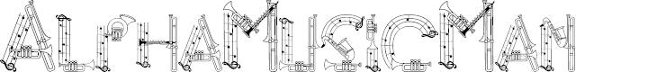 Preview image for AlphaMusicMan Font