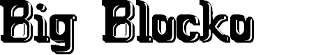 Preview image for Big Blocko Font