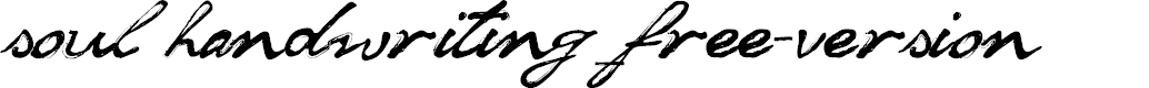 Preview image for soul handwriting_free-version Font