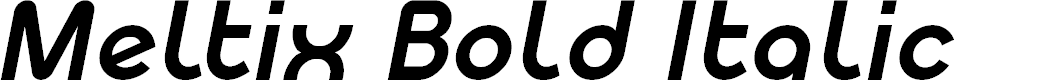 Preview image for Meltix Bold Italic Demo