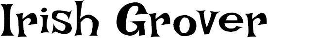 Preview image for Irish Grover Font