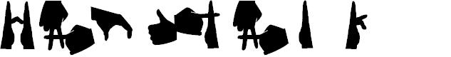 Preview image for Handtalk Font