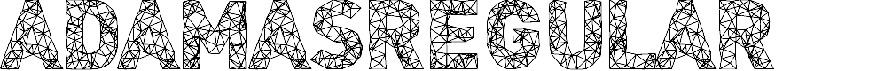 Preview image for Adamas-Regular Font