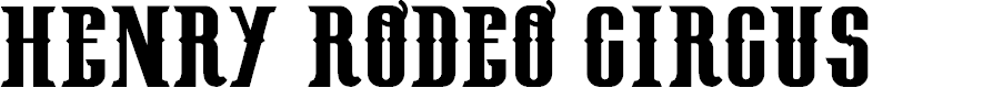 Preview image for HenryRodeoCircus_demo Font