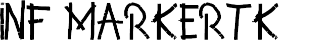 Preview image for INF MarkerTK Font