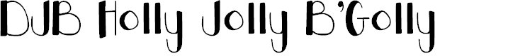 Preview image for DJB Holly Jolly B'Golly Font