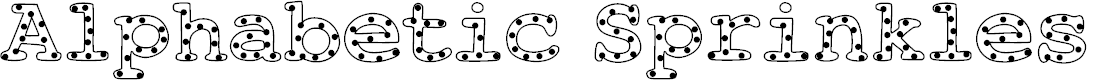 Preview image for AlphabeticSprinkles Font