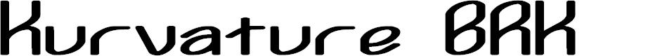Preview image for Kurvature BRK Font