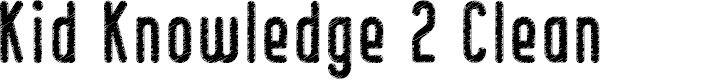 Preview image for Kid Knowledge 2 Clean Font