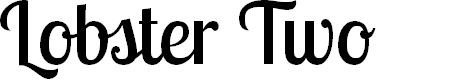 Preview image for Lobster Two Font
