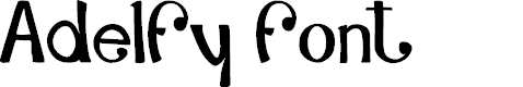 Preview image for Adelfy_free-version Font