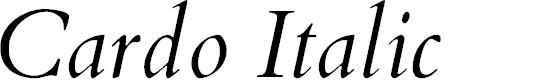 Preview image for Cardo Italic