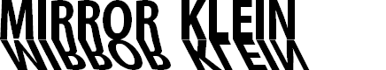 Preview image for MirrorKlein Shadows Font