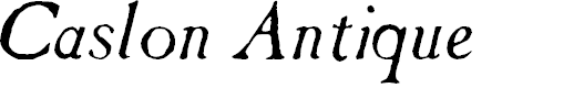 Preview image for Caslon Antique Italic