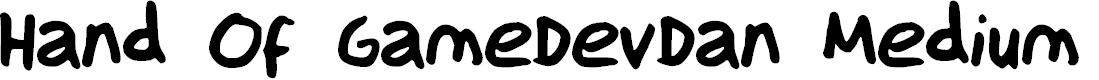 Preview image for Hand Of GameDevDan Medium Font