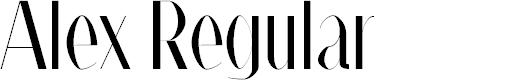 Preview image for Alex Regular   Font