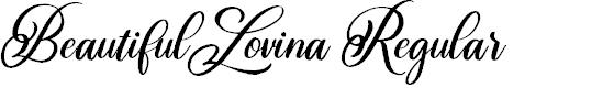 Preview image for Beautiful Lovina Regular Font