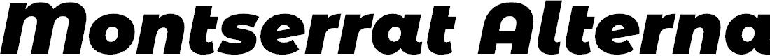 Preview image for Montserrat Alternates Black Italic