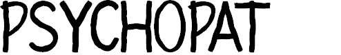 Preview image for PSYCHOPAT Font
