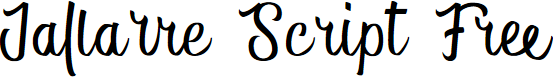 Preview image for Jallarre Script Free Font