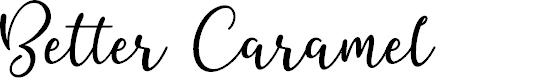 Preview image for Better Caramel Font