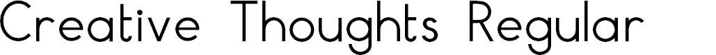 Preview image for Creative Thoughts Regular Font