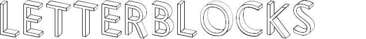 Preview image for Letterblocks Font