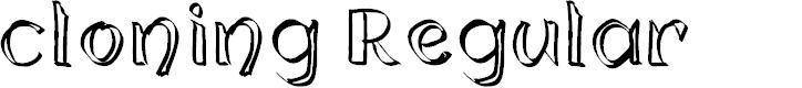Preview image for cloning Regular Font