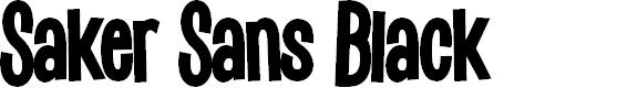 Preview image for Saker Sans Black PERSONAL USE Font