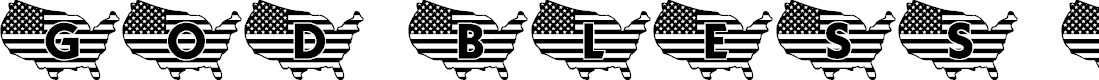 Preview image for JLR God Bless the USA LSF Font