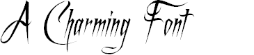 Preview image for A Charming Font Italic