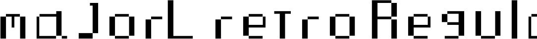 Preview image for majorL retro Regular Font