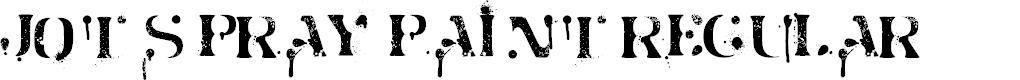 Preview image for Jot Spray Paint Regular Font
