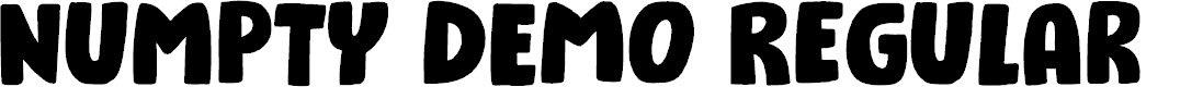 Preview image for Numpty DEMO Regular Font