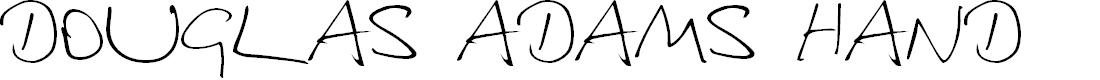 Preview image for Douglas Adams Hand Font