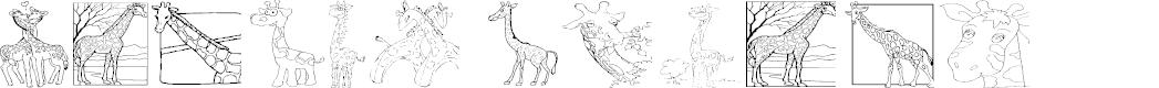 Preview image for AEZ giraffes Font