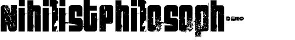 Preview image for FT NihilistPhilosophy Demoversion Font