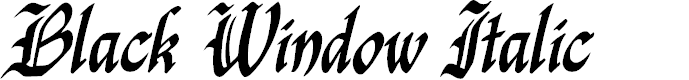 Preview image for Black Window Italic