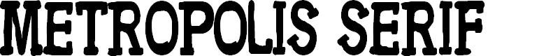 Preview image for CF Metropolis Serif Regular Font
