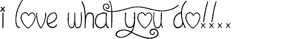 Preview image for I Love What You Do!!.. Font