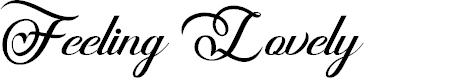 Preview image for Feeling Lovely Font