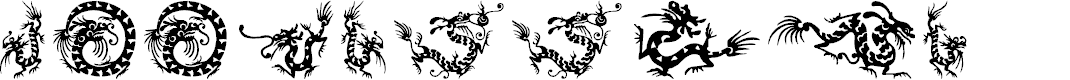 Preview image for HFF Chinese Dragon Font