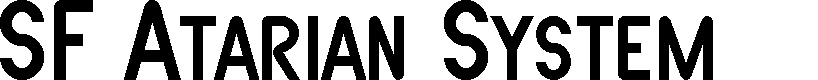 Preview image for SF Atarian System Font